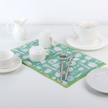 """Коврик-сушилка для посуды """"Кухня"""", 34 × 50 см"""