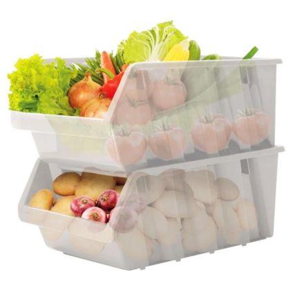 Набор контейнеров для продуктов, 2 секции, 37,5 х 22,5 х 19 см
