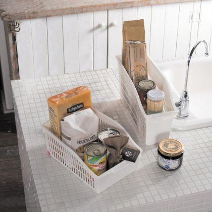 Органайзер для кухни, на колесиках, белый, 30,5 х 20,5 х 12,5 см