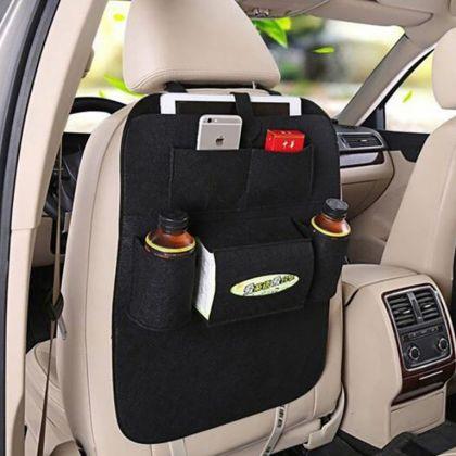 Органайзер на спинку сиденья автомобиля, черный, 55 х 41 х 2 см
