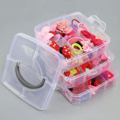 Органайзер для таблеток, из 3 ярусов на 18 отделений, 15 х 15 х 12 см