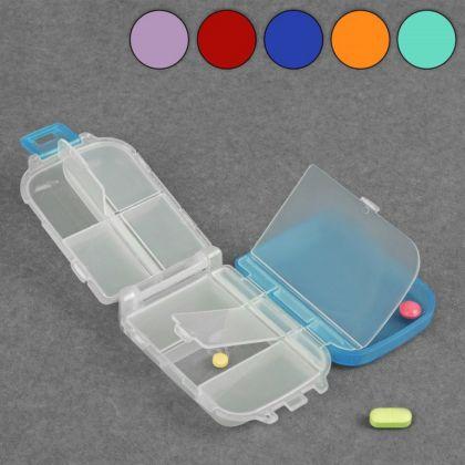 Органайзер для лекарств на 8 отделов, 10 х 6,5 х 3,5 см