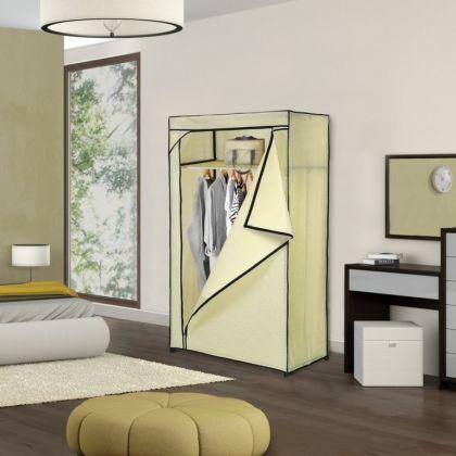 Тканевый шкаф бежевый, 75 x 46 x 160 см