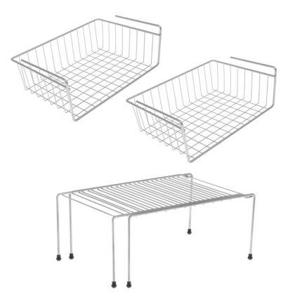 Комплект из трех полок для шкафа, 40 х 26 х 11, 37-62 x 22 x 15 см