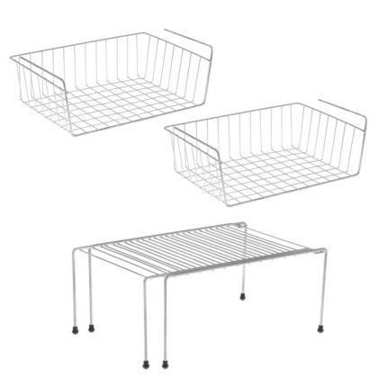 Комплект из трех полок для шкафа, 40 x 26 x 14, 37-62 x 22 x 15 см