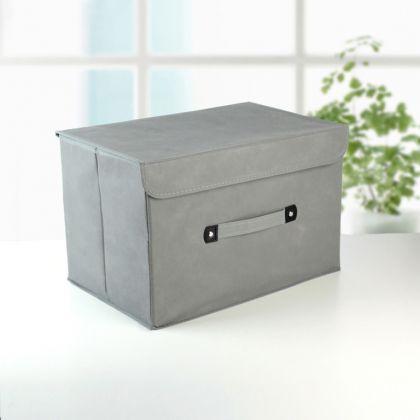 Коробка для хранения «Cloud», серый, 38 x 25 x 25 см