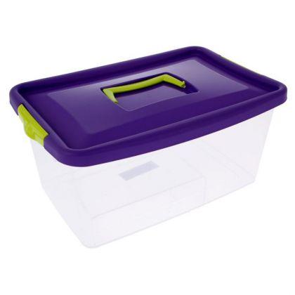 Аптечка с крышкой, 9 л, фиолетовый, 36 x 24,5 x 17 см