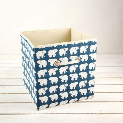 Коробка для хранения «Белые мишки», 27 x 27 x 27 см