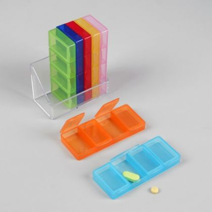 Органайзер для таблеток на 7 контейнеров, 12 x 4 x 12 см