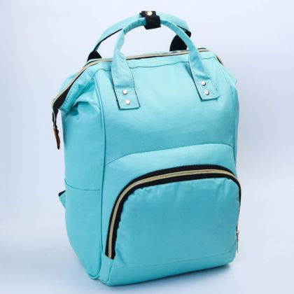 Сумка-рюкзак для мамы, голубой, 30 x 12 x 43 см