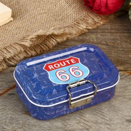 Коробка металлическая «Route 66», 10,6 х 7,1 х 3,2 см