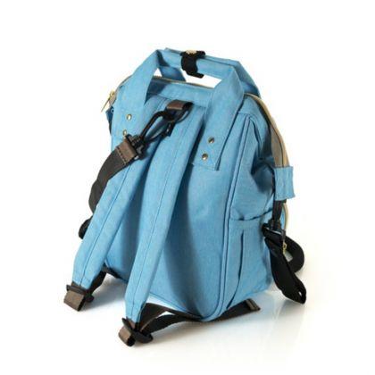 Сумка-рюкзак для мамы, голубой, 22 x 11,5 x 29 см