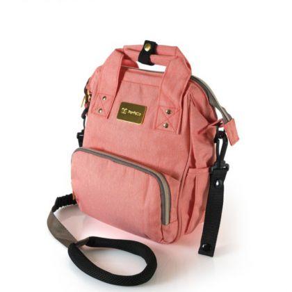 Сумка-рюкзак для мамы, розовый, 22 x 11,5 x 29 см