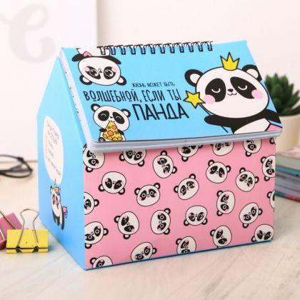 Шкатулка-планинг «Панда», 50 листов, 26,8 x 1,5 x 26,3 см