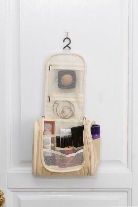 Подвесная косметичка-органайзер, бежевый, 24 х 10 х 25 см