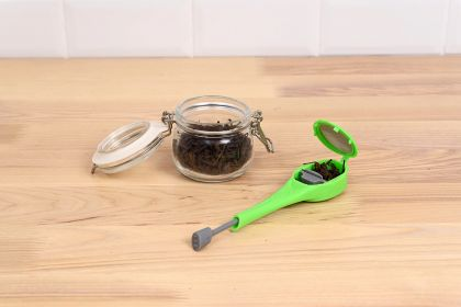 Ситечко для заваривания чая, зеленый, 18 x 4 x 2 см