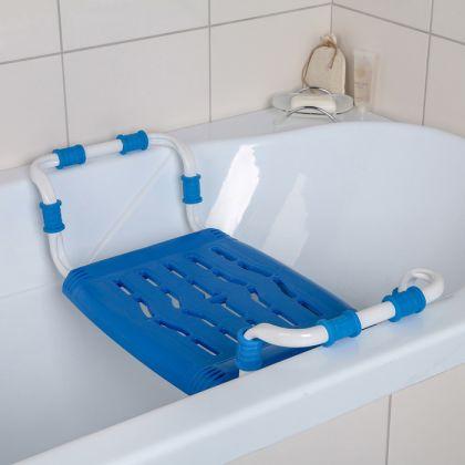 Сиденье для ванны раздвижное, синий, 64 x 29 x 14 см