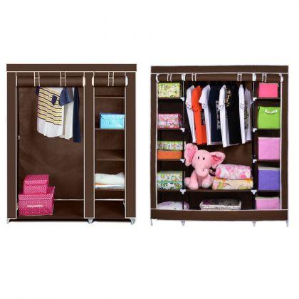 """Комплект тканевых шкафов """"Трио+Дабл"""", коричневый"""