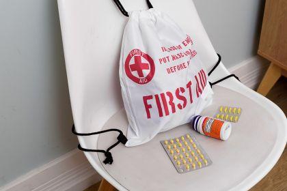 Сумка-мешок для лекарств «Первая помощь», 19 х 1 x 21 см