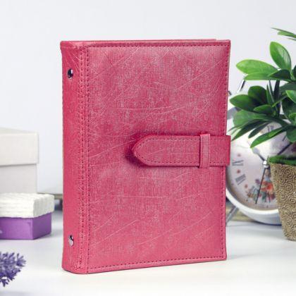 Альбом для хранения сережек на 48 пар, розовый, 14 x 18,5 x 3,5 см