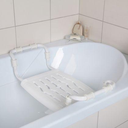 Раздвижное сиденье в ванну, белое, 34 х 29 см