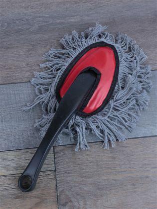 Автомобильная щетка для удаления пыли в салоне, серый, 30 см