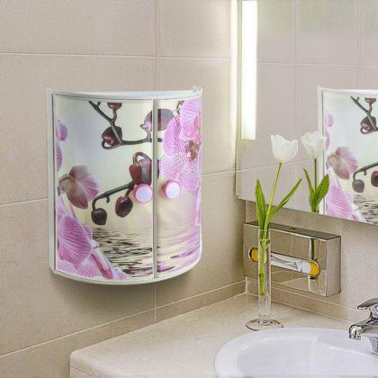 """Аптечка настенная """"Орхидея"""", две дверцы, 33 х 14,5 х 38 см"""