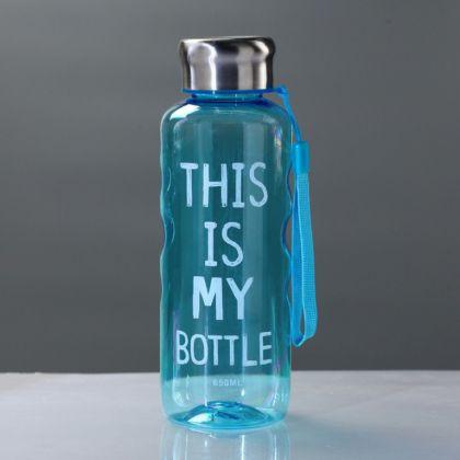 "Бутылка для воды ""My bottle"", 650 мл, 7,5 х 7,5 х 21 см"