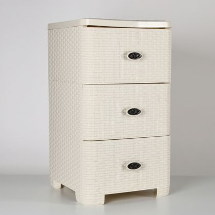 Комод трехсекционный «Нуга», кремовый, 37,5 x 36 x 63 см