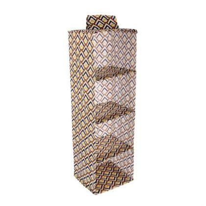 Органайзер подвесной «Черное золото», 4 отделения, 28 х 28 x 95 см