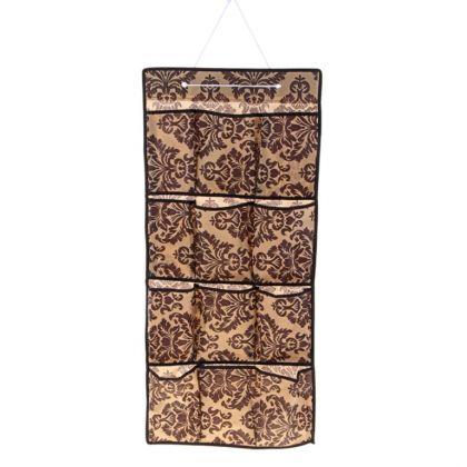 """Органайзер подвесной """"Venzel"""", 12 карманов, коричнево-бежевый, 90 x 40 см"""