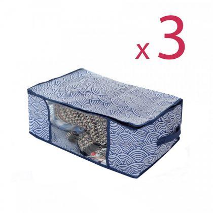Комплект кофров для хранения вещей «Зыбь», 3 шт, 45 x 30 x 25 см