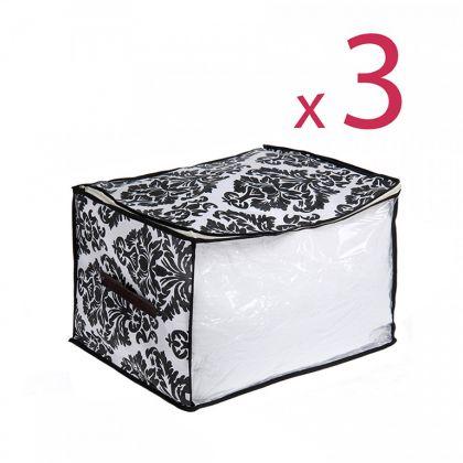 Комплект кофров для хранения вещей «Барокко», 3 шт, 45 x 35 x 30 см