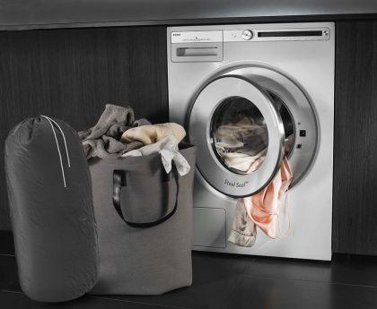 Мешок для грязного белья, серый, 90 x 40 см