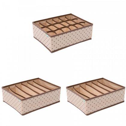 Комплект из трех органайзеров «Горох» для нижнего белья