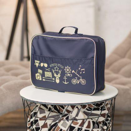 """Органайзер для одежды """"Hipster Style"""", синий, 35 х 25 х 10 см"""