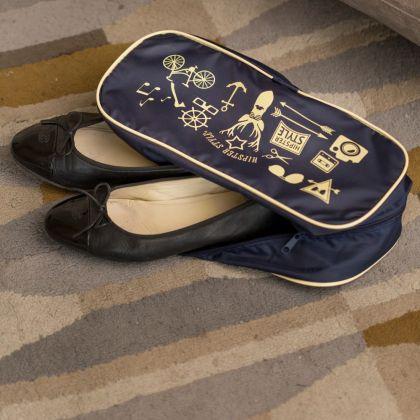 """Органайзер для обуви """"Hipster Style"""", синий, 35 х 15 х 11 см"""