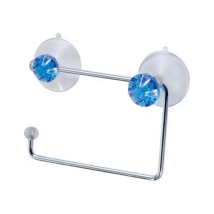 Держатель для туалетной бумаги «Diamond», синий, 14,6 x 12,3 см