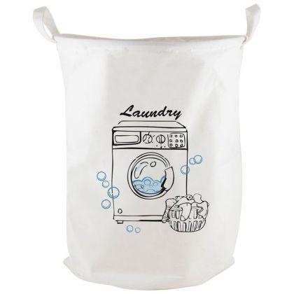 Корзина для белья «Laundry», белый, 38 x 38 x 48 см