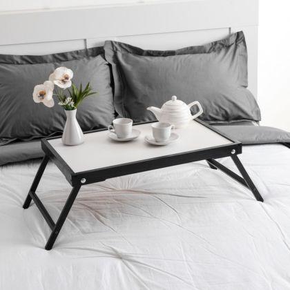 Столик для завтрака «Renaissance», массив ясеня, черный, 60 х 40 см
