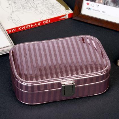 Шкатулка для украшений «Lines», розовый, 15 х 10 x 4,5 см