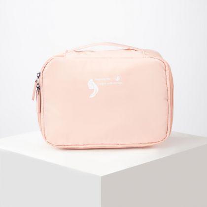 Косметичка дорожная, отдел на молнии, розовый, 26 x 8,5 x 19 см