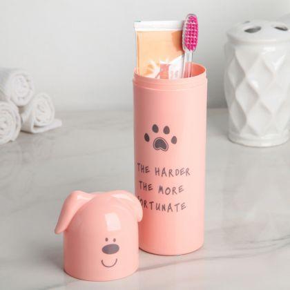Футляр для зубной щетки и пасты «Puppy», 5,5 x 5,5 x 21 см