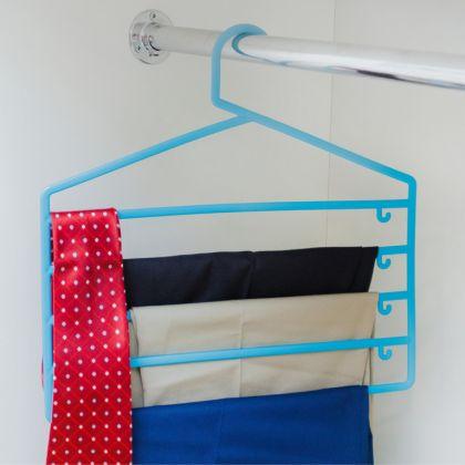 Вешалка для брюк и юбок пятиуровневая, 36,5 х 34,5 х 0,5 см