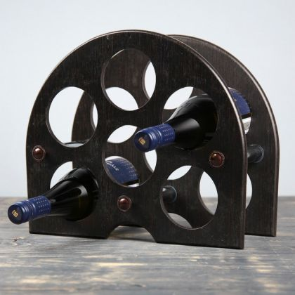 Винный бар «Арка», коричневый, 43 x 4 x 45 см