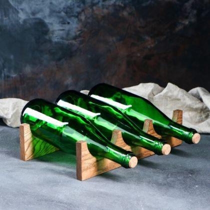 Стеллаж винный настольный, массив ясеня, 30 х 20 х 8 см