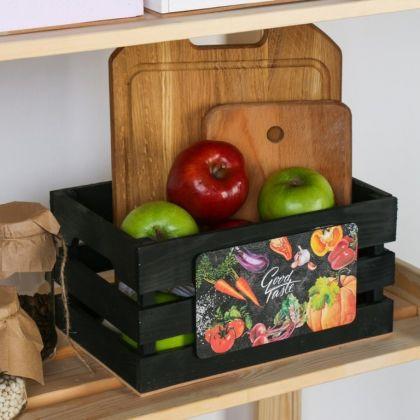 Ящик для хранения овощей, черный, 30 х 15 х 20 см