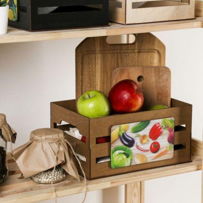 Ящик для хранения овощей, коричневый, 30 х 15 х 20 см