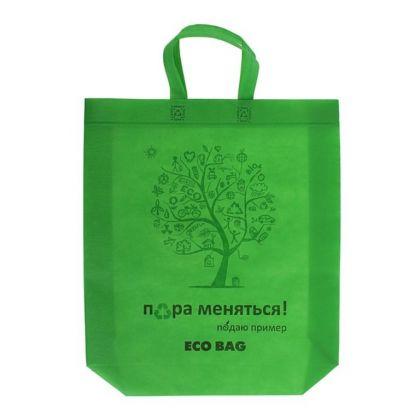 Пакет с петлевой ручкой «Eco», зеленый, 42 х 10 x 44 см