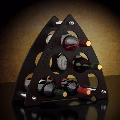 Подставка для бутылок «Треугольник», коричневый, 43 x 3 x 44 см